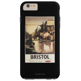 Clifton Suspension Bridge and Boats Tough iPhone 6 Plus Case