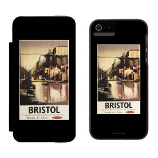 Clifton Suspension Bridge and Boats Wallet Case For iPhone SE/5/5s
