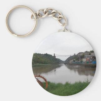 Clifton Suspension Bridge Basic Round Button Keychain