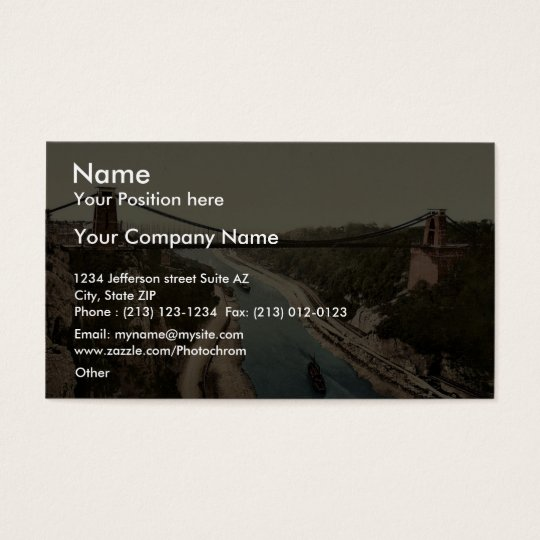 Clifton suspension bridge from the north cliffs, B Business Card