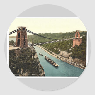 Clifton suspension bridge from the north east clif sticker