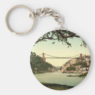 Clifton Suspension Bridge I, Bristol, England Basic Round Button Keychain