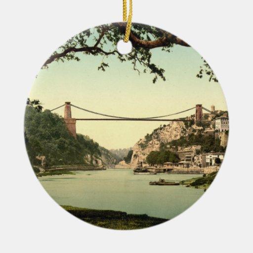 Clifton Suspension Bridge I, Bristol, England Christmas Tree Ornaments