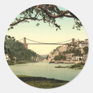 Clifton Suspension Bridge I, Bristol, England Round Sticker