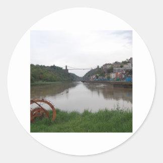 Clifton Suspension Bridge Round Stickers