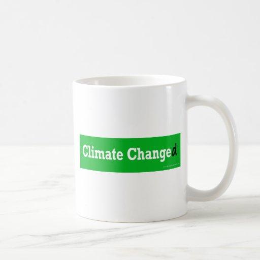 Clima cambiado taza de café