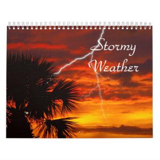 Clima tempestuoso calendarios