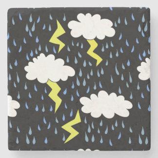 Clima tempestuoso de la tormenta posavasos de piedra