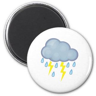 Clima tempestuoso imán redondo 5 cm