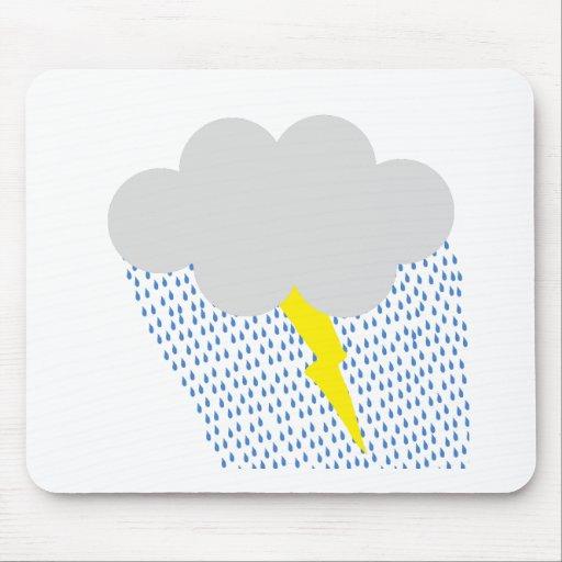 Clima tempestuoso tapete de ratón