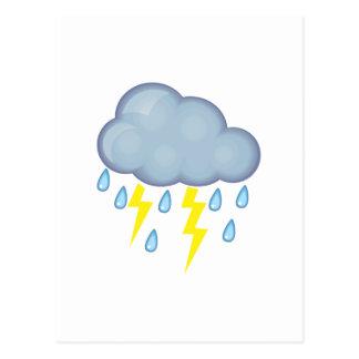 Clima tempestuoso tarjeta postal
