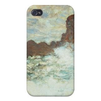 Clima tempestuoso un Etretat, mar agitado - Claude iPhone 4/4S Carcasa