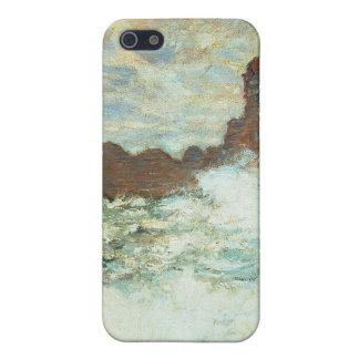 Clima tempestuoso un Etretat, mar agitado - Claude iPhone 5 Fundas