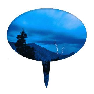 Clima tempestuoso Yosemite del cielo Decoración Para Tarta