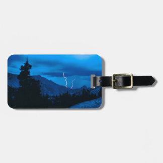 Clima tempestuoso Yosemite del cielo Etiqueta Para Maleta