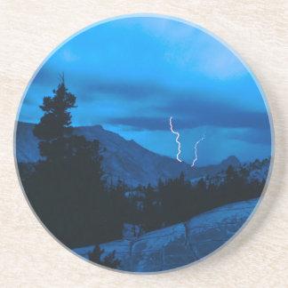 Clima tempestuoso Yosemite del cielo Posavasos Diseño