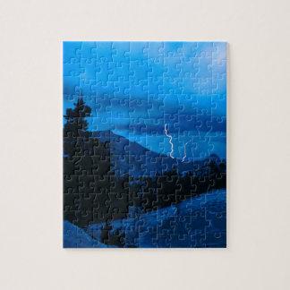 Clima tempestuoso Yosemite del cielo Puzzles Con Fotos