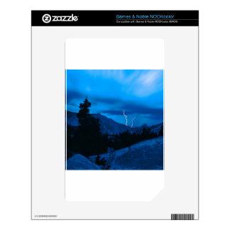 Clima tempestuoso Yosemite del cielo NOOK Color Calcomanía