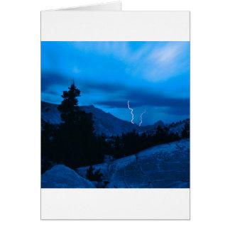 Clima tempestuoso Yosemite del cielo Tarjeton