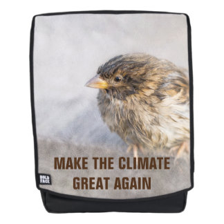 Climate change awareness backpack