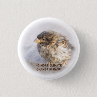 Climate change awareness pinback button