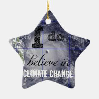 Climate Change Ceramic Ornament