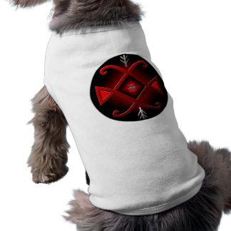 Climate change conceptual art doggie shirt