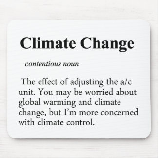 Climate Change Definition Mouse Pad