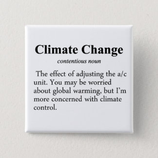 Climate Change Definition Pinback Button