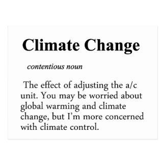 Climate Change Definition Postcard