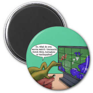 Climate Change Dinosaurs 2 Inch Round Magnet
