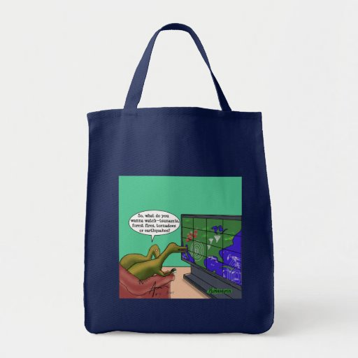 Climate Change Dinosaurs Canvas Bags