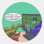 Climate Change Dinosaurs Sticker