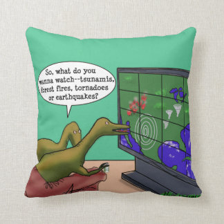 Climate Change Dinosaurs Throw Pillow