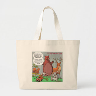 Climate Change From A Bear's Perspective Large Tote Bag
