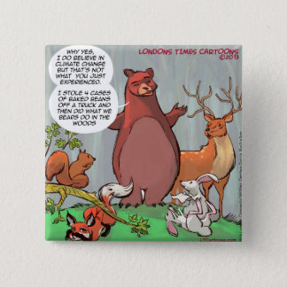 Climate Change From A Bear's Perspective Pinback Button