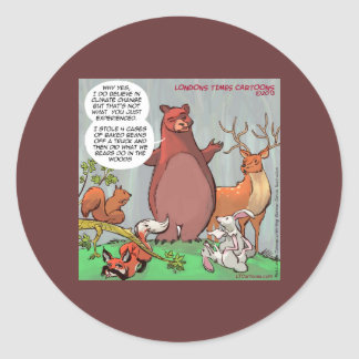 Climate Change From A Bear's Perspective Classic Round Sticker