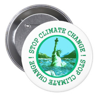 Climate Change Global Warming Button