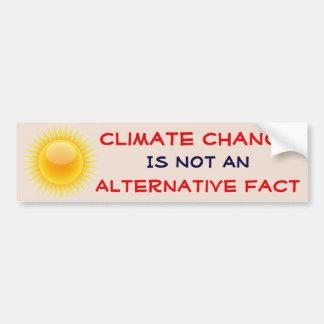 """Climate Change Is Not An Alternative Fact"" Bumper Sticker"