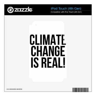 Climate Change is Real! Planet Earth World iPod Touch 4G Decals