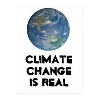 Climate change is real. Protect the environment. Postcard