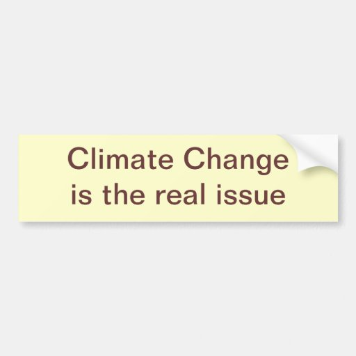 Climate Change is the real issue Car Bumper Sticker