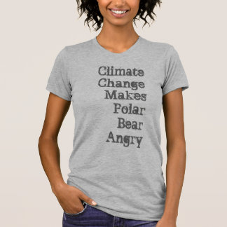 Climate Change Makes Polar Bear Angry Shirt