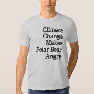 Climate Change Makes Polar Bear Angry Tee Shirt