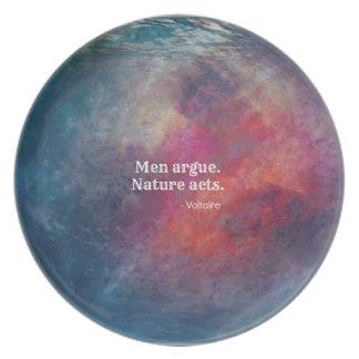 """Climate Change: """"Men Argue - Nature Acts"""" Design Plate"""