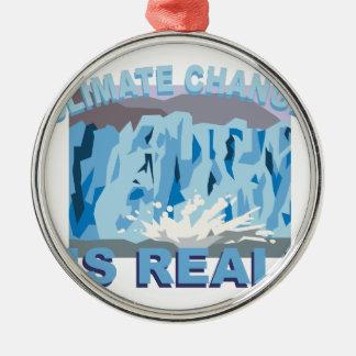 Climate Change Metal Ornament