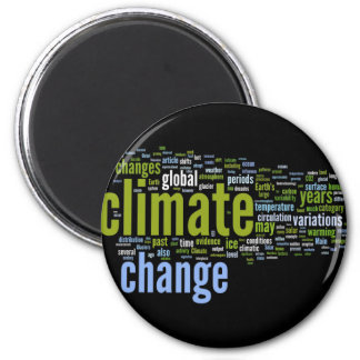 climate change one 2 inch round magnet