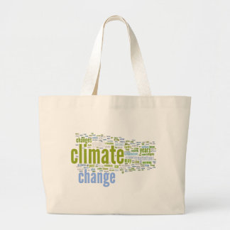 climate change one canvas bag