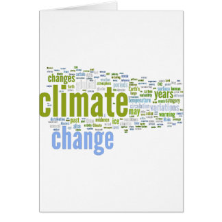 climate change one card