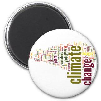 climate change three 2 inch round magnet